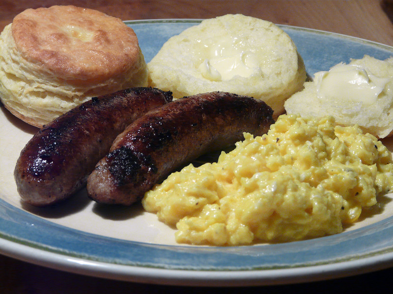 Biscuits%2C%20Sausage%20and%20scrambled%